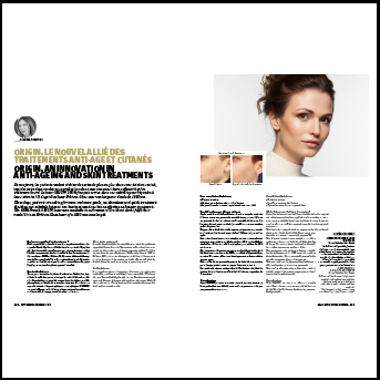 ORIGIN, an innovation in anti-ageing and skin treatments